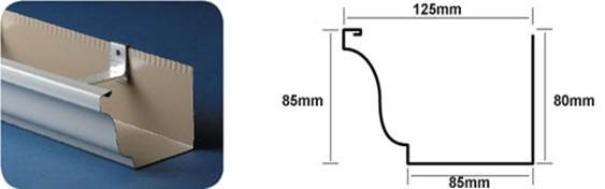 """Mr Gutter Vaal 5""""-125mm-x-85mm-Gutter-Profile Welcome"""