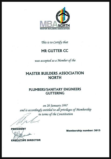 Mr Gutter Vaal MBA-Certificate-Mr-Gutter MBA Certificate Mr-Gutter