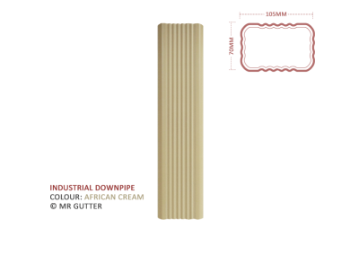 Mr Gutter Vaal mrgutter-colour-industrial-downpipe-african-cream-400x284 Industrial Downpipe