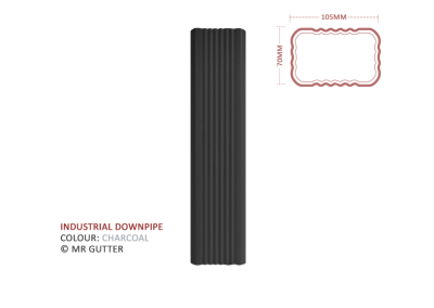 Mr Gutter Vaal mrgutter-colour-industrial-downpipe-charcoal-400x284 Industrial Downpipe