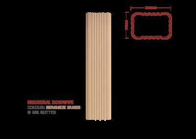 Mr Gutter Vaal mrgutter-colour-industrial-downpipe-gemsbok-sands-400x284 Industrial Downpipe