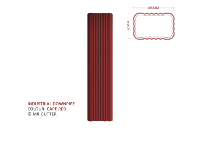 Mr Gutter Vaal mrgutter-colour-industrial-downpipe-red-cape-400x284 Industrial Downpipe